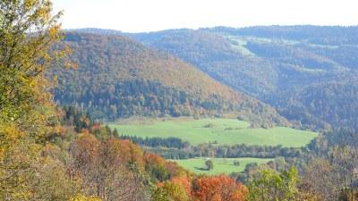 En automne sur versant suisse - Photo Claude Schneider - Copyrigth