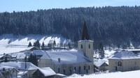 Eglise, Mairie ... il a neigé ... - Photo Claude Schneider - Copyright